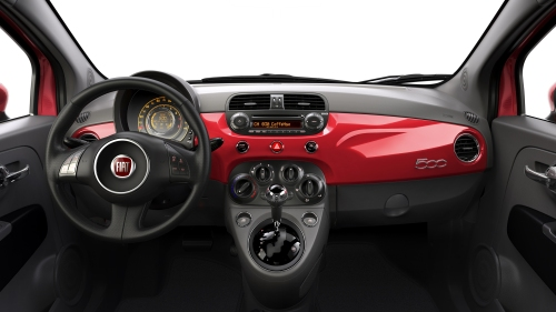 2013 Fiat 500 Turbo interior