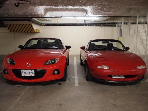 2013 versus 1990 Mazda Miata