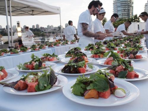 2014 Diner en Blanc Vancouver food