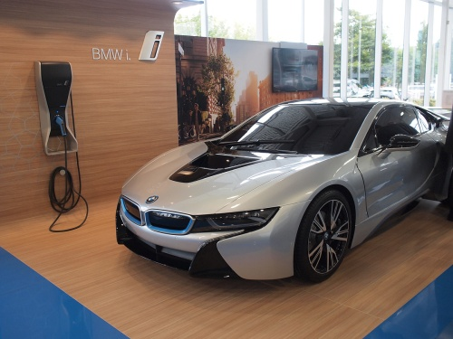 An i8 replica at Brian Jessel BMW