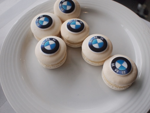 Branded macarons served at Brian Jessel BMW