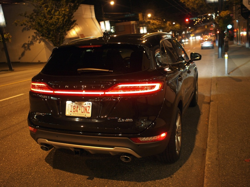 Rear of the new Lincoln MKC at the 2014 Savour the City Supper Club