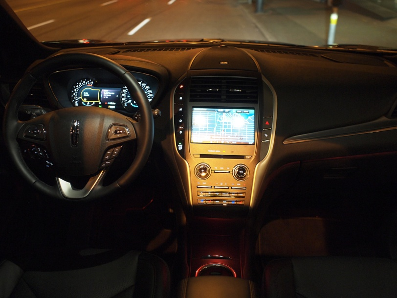 Interior of the Lincoln MKC at the 2014 Savour the City event at Hamilton Street Grill