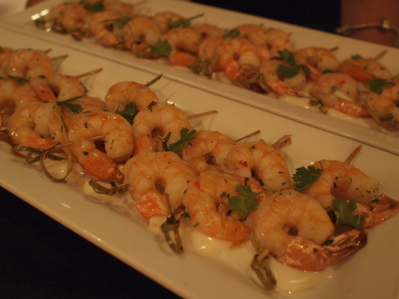 shrimp appetizer at Loft at Earls Yaletown