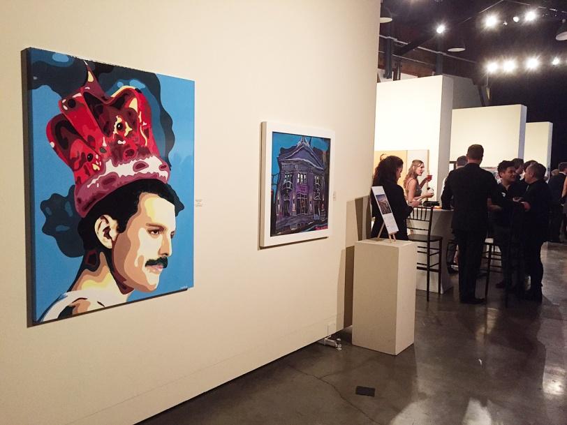 Freddie Mercury painting by Elisabetta Fantone