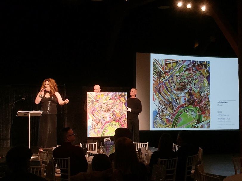Auctioneer Joan-E at Art For Life 2014