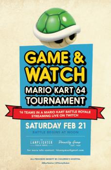 Lamplighter Mario Kart 64 tournament poster