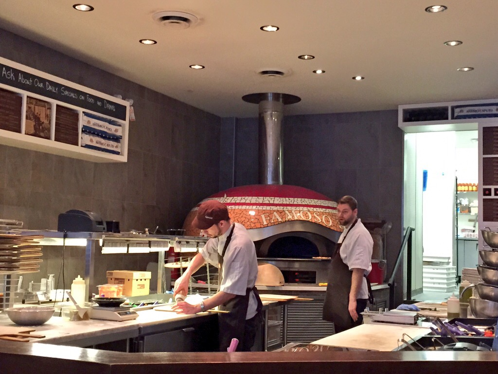 the kitchen at Famoso Neapolitan Pizzeria