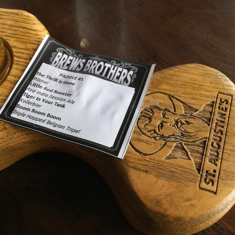 Brews Brothers beer paddle list