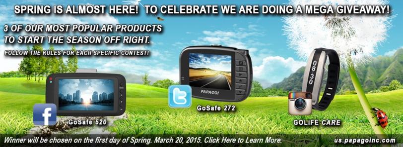 PAPAGO! spring giveaway banner