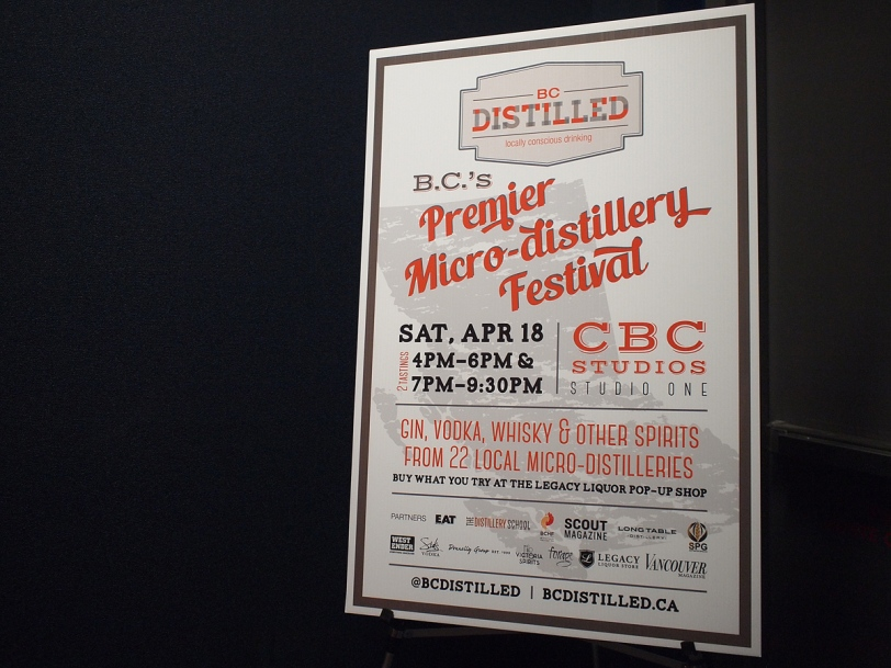 BC Distilled festival 2015 sign