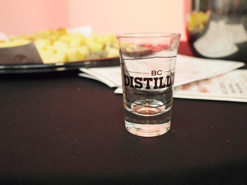BC Distilled Festival 2015 shot glass