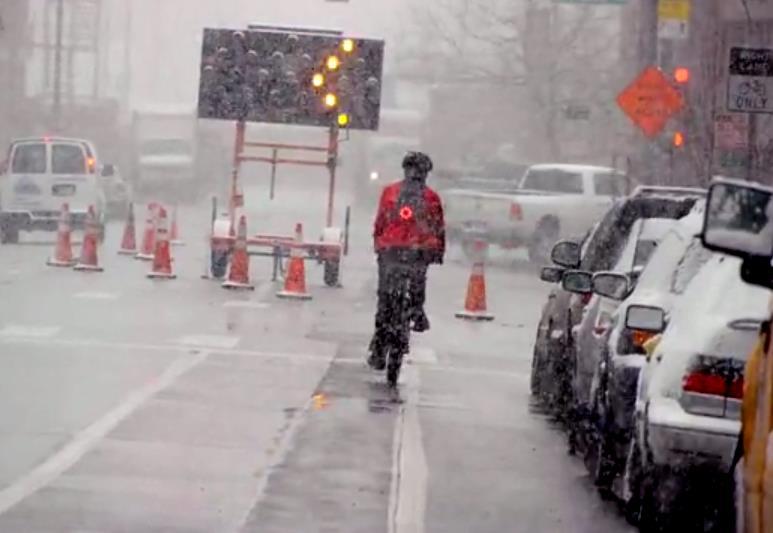 LucidBrake mounted on cyclist