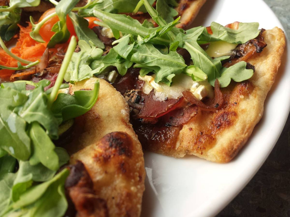 Rocky Mountain Flatbread fig and brie pizza