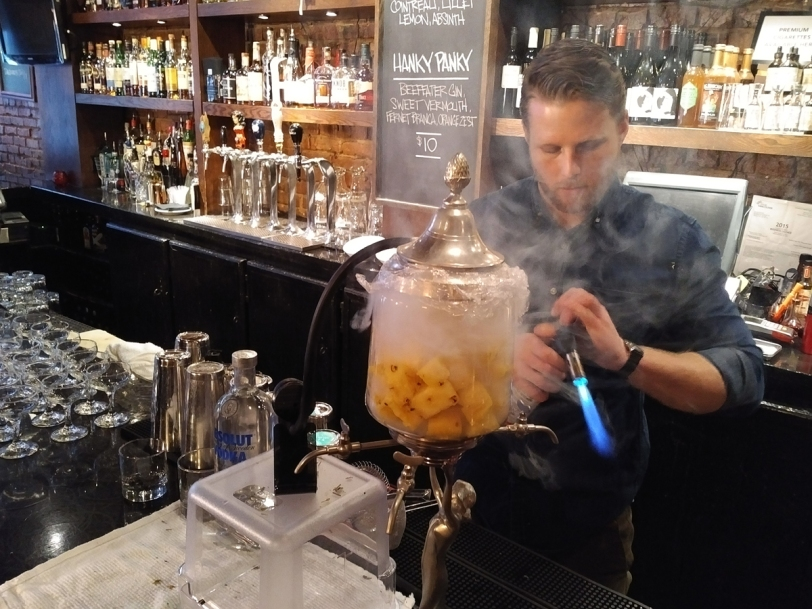 Science of Cocktails pineapple smoking
