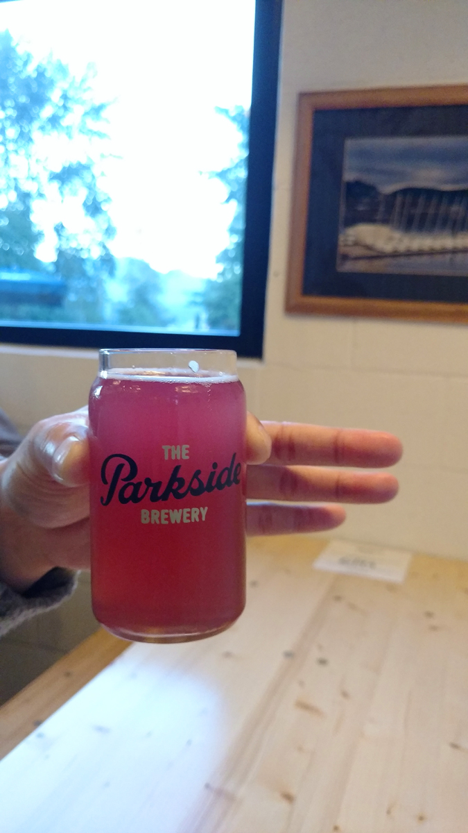 The Parkside Brewery blueberry wit