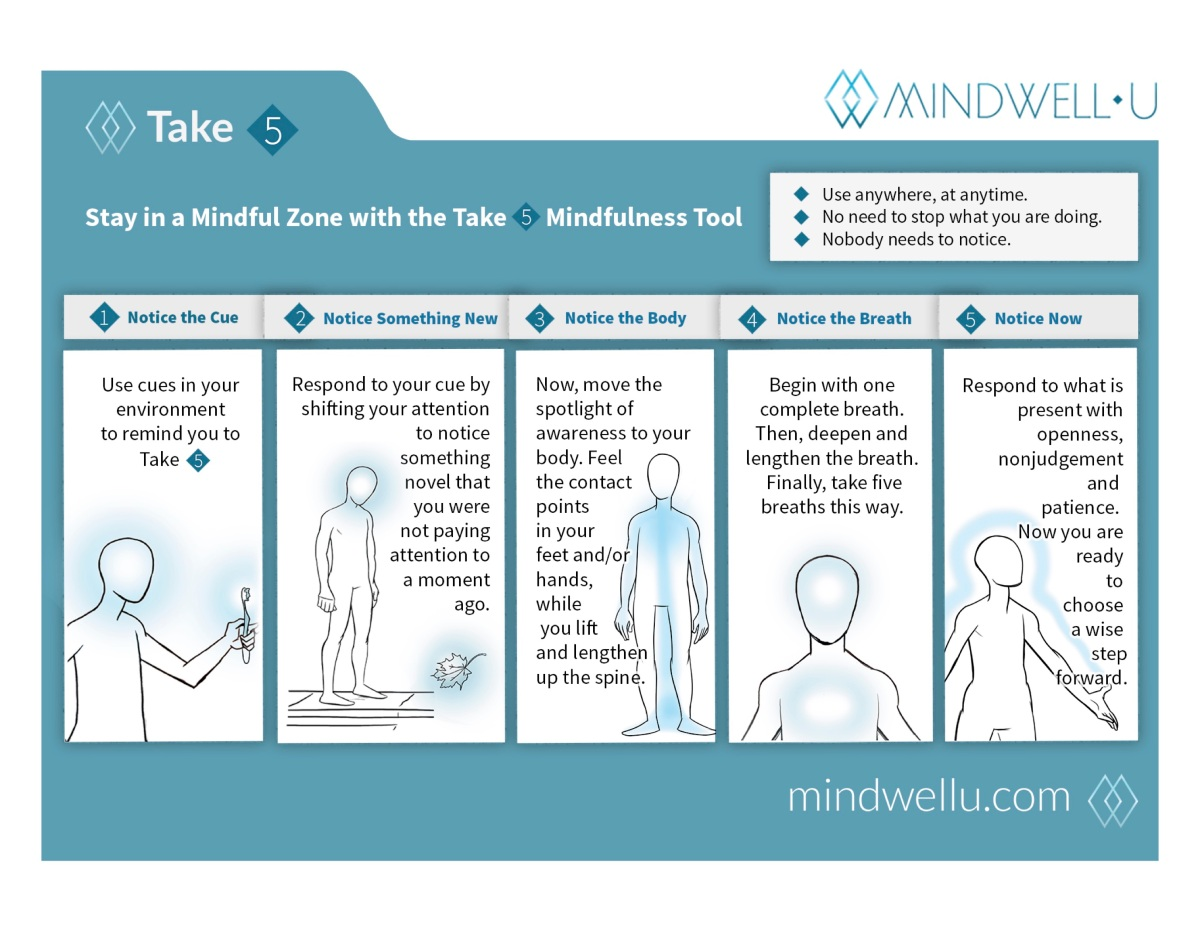mindwell-u take 5 mindful exercises
