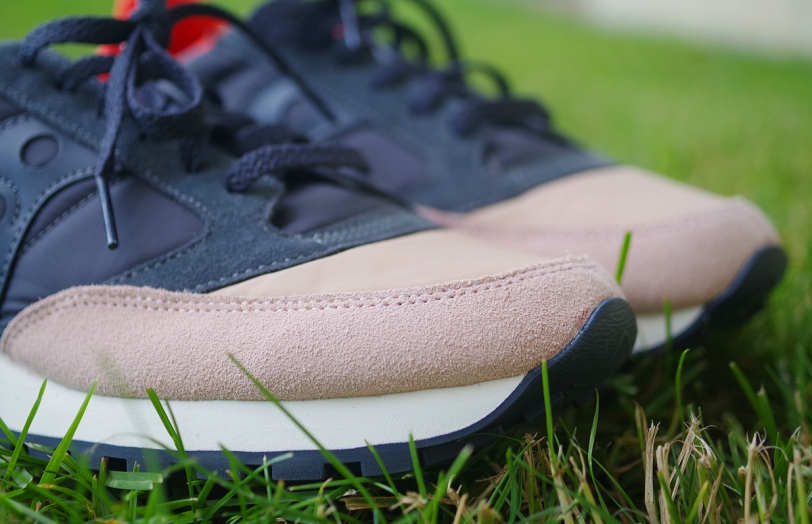 Saucony Jazz Original Tan/Charcoal toe box