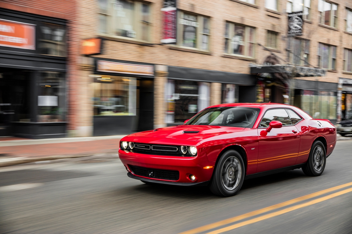 2018 Dodge Challenger GT AWD on road