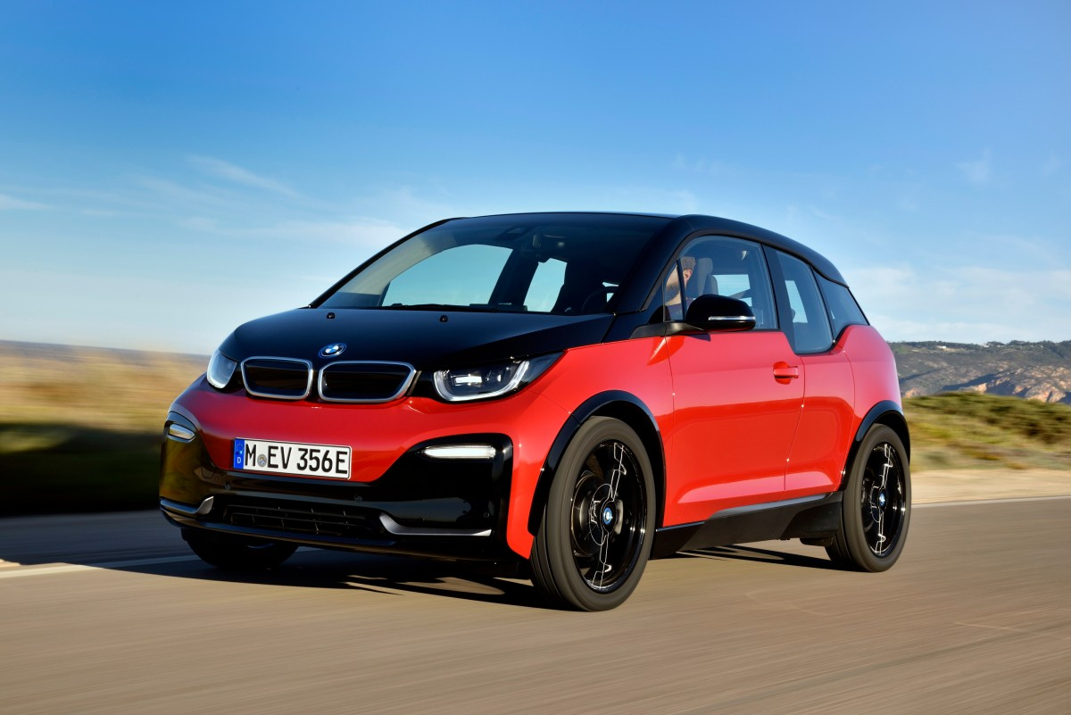BMW i3s on road