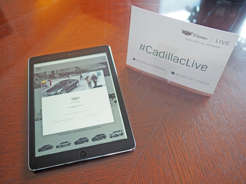 cadillac live tablet