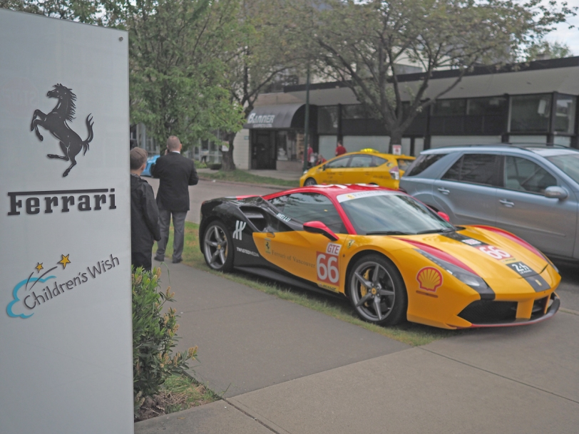 ferrari maserati vancouver children's wish foundation