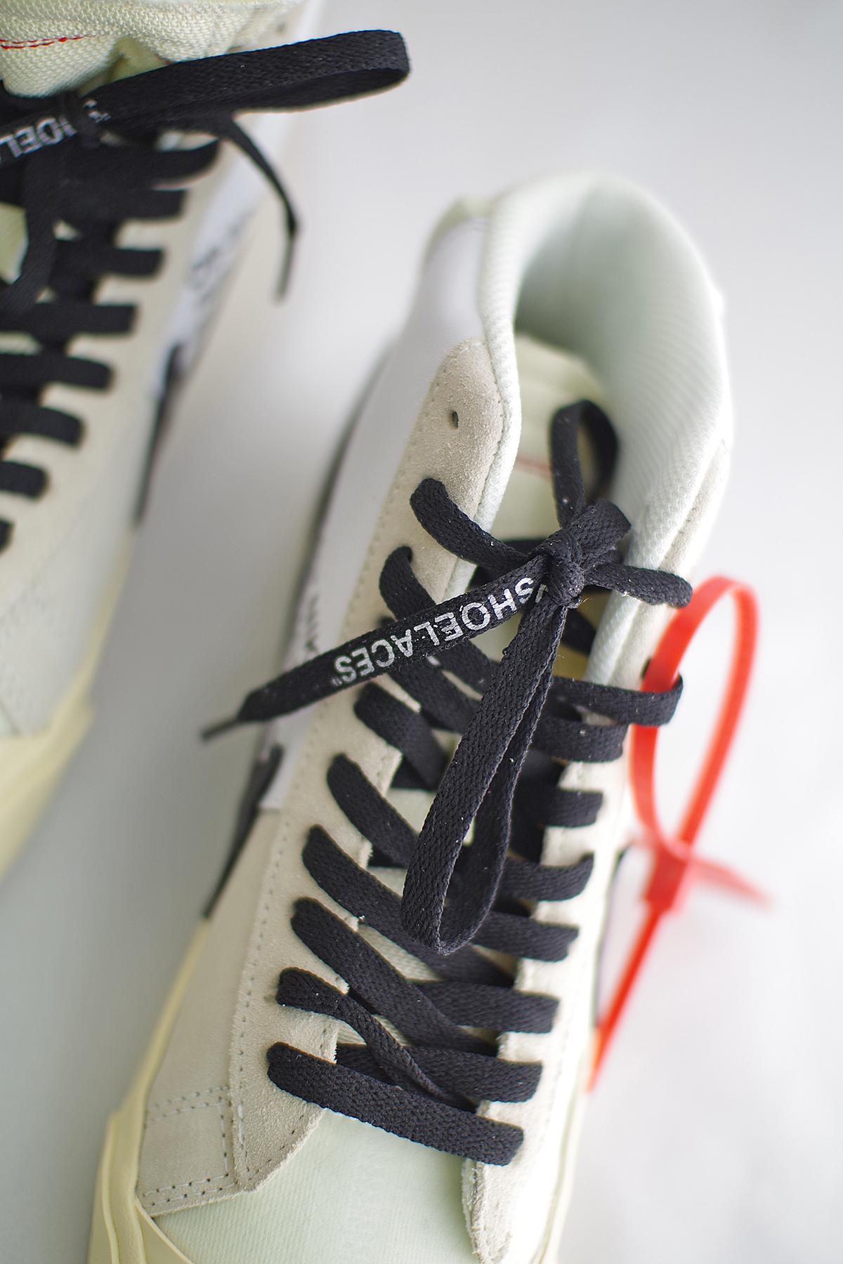 nike off white blazer mid shoelaces